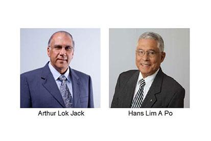Arthur Lok Jack and Hans Lim A Po